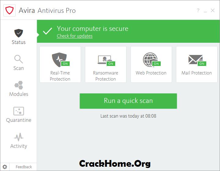 Avira Antivirus Pro License Key 2020